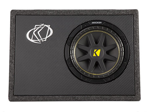 X Front on 10 Inch Kicker Subwoofers