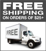 Free shipping on orders greater than 25 dollars.