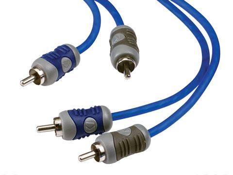 Kicker KI44 13 Ft 4-Channel K-Series RCA Audio Interconnect Cable