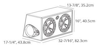dual 12 u0026quot  comp subwoofer box