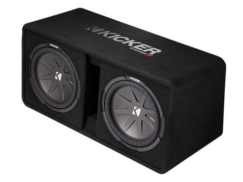 2016 dual 12 compr loaded subwoofer box kicker u00ae JL Audio Subwoofer Wiring Diagram