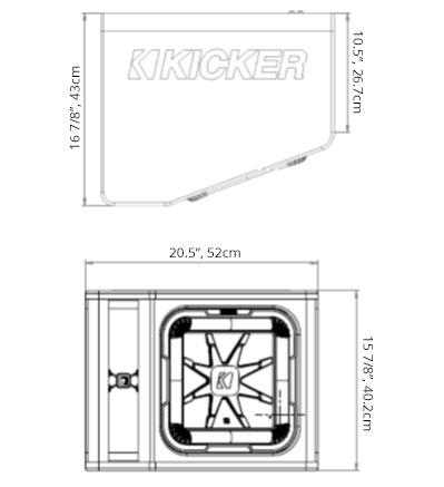 12 l7 loaded subwoofer enclosure kicker dimensions publicscrutiny Choice Image