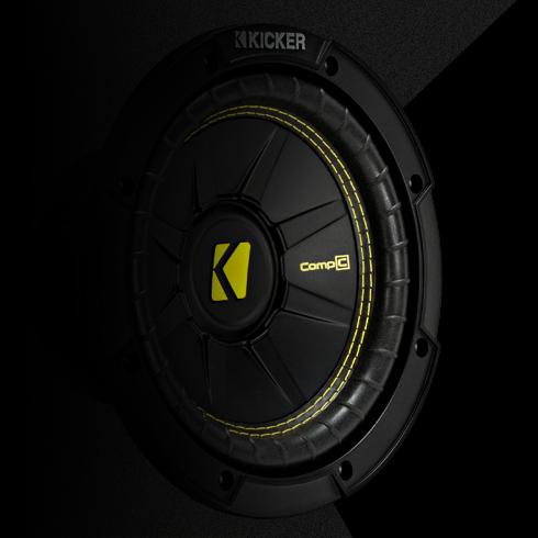 "Kicker TCWC10 Car Audio CompC 10/"" Truck Sub Box Enclosure 4 Ohm 44TCWC102 New"
